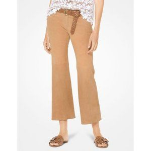 MICHAEL Michael Kors Cropped Izzy Suede Pants